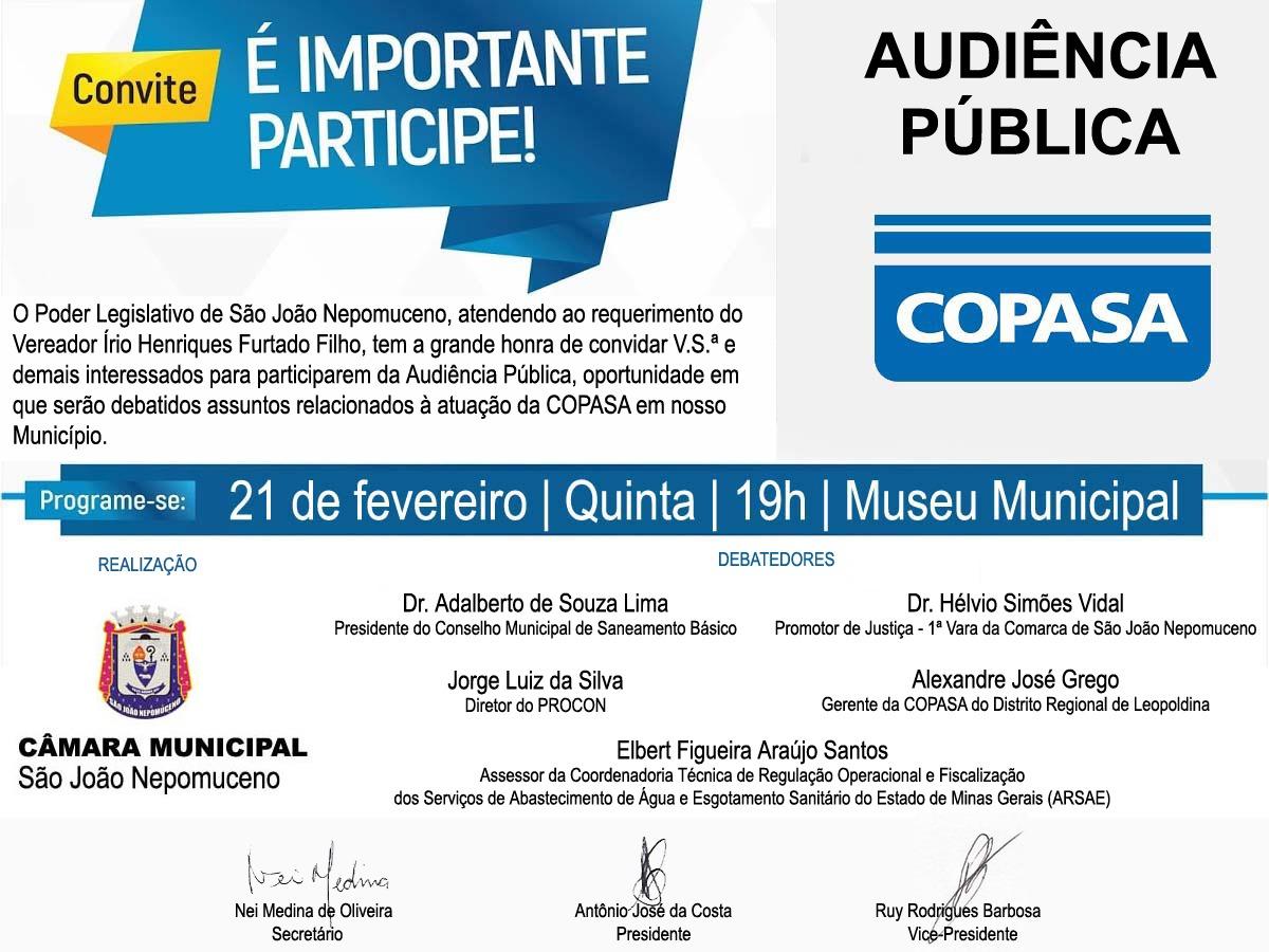 Audiência Pública - COPASA