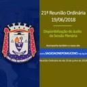 Áudio completo da 21ª Reunião Ordinária realizada no dia 19/06/2018