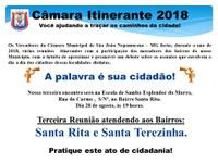 Câmara Itinerante no Bairro Santa Rita
