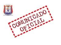 COMUNICADO OFICIAL DA CÂMARA MUNICIPAL DE SÃO JOÃO NEPOMUCENO