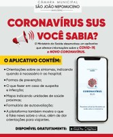 Ministério da Saúde disponibiliza aplicativo sobre o Coronavírus