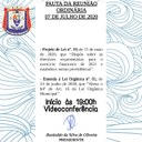 Pauta da Reunião Ordinária - 07 de julho de 2020