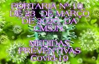 PORTARIA Nº. 10, DE 23 DE MARÇO DE 2020
